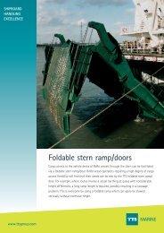 Foldable stern ramp/doors MARINE - TTS Group ASA