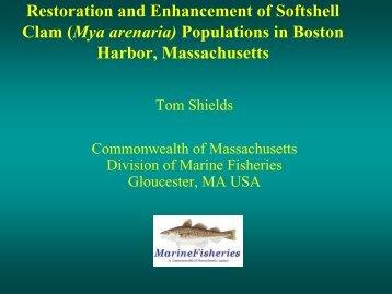 Restoration and Enhancement of Softshell Clam (Mya arenaria ...