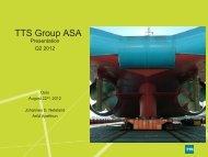 Total 58.03% - TTS Group ASA