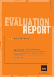 EVALUATION OF SHELTER AND CAMP MANAGEMENT IN TIMOR ...