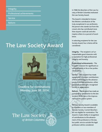 read the flyer - The Law Society of British Columbia