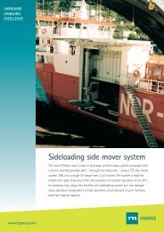 Sideloading side mover system MARINE - TTS Group ASA
