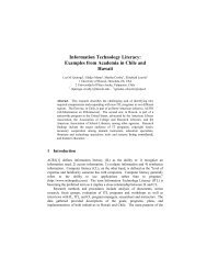 Information Technology Literacy: Examples from Academia ... - SeDiCI