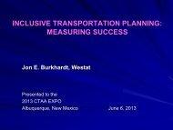 Inclusive Transportation Planning: Measuring Success