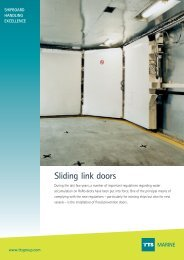 Sliding link doors  MARINE - TTS Group ASA