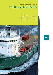 TTS Resque Boat Davits - TTS Group ASA