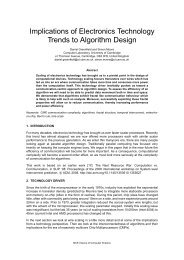 Implications of Electronics Technology Trends to Algorithm Design