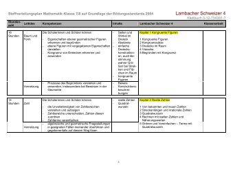 L sungsseiten zu Lambacher Schweizer