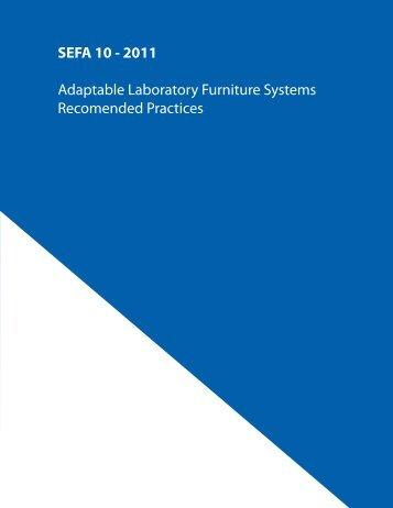 SEFA 10 - 2011 Adaptable Laboratory Furniture Systems ...