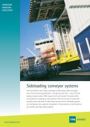 Sideloading conveyor systems MARINE - TTS Group ASA