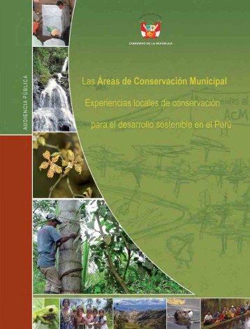 Las áreas de conservación municipal - PDRS