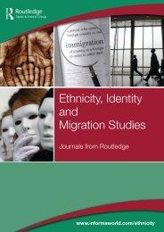 Ethnicity, Identity and Migration Studies