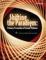 Primary Prevention of Sexual Violence - American College Health ...