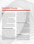 Primary Prevention of Sexual Violence - American College Health ... - Page 7