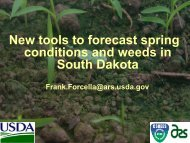 New Tools to Forecast Spring Conditions and Weeds in South Dakota