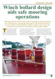 Winch bollard design aids safe mooring operations - TTS Group ASA