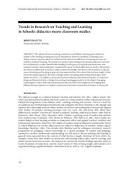 Trends in Research on Teaching and Learning in Schools: didactics ...