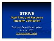STRIVE Technical Expert Panel Slides