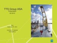 Turnover EBITDA - TTS Group ASA