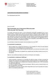Pany (GR) - Séance du 5 juin 2007 - PostCom - admin.ch