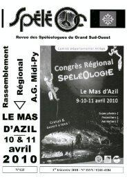 n° 125 - 2010 - Comité spéléologique régional Midi-Pyrénées