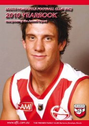 2010 YEARBOOK 2010 YEARBOOK - South Fremantle Football Club
