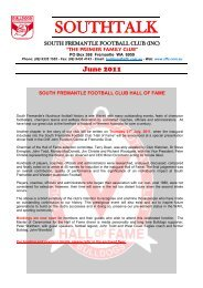 2011 banquet auction - South Fremantle Football Club