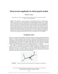 Electroweak amplitudes in chiral quark models - Nautilus ...