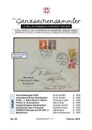 94 - Schweizerischer Ganzsachen-Sammler-Verein