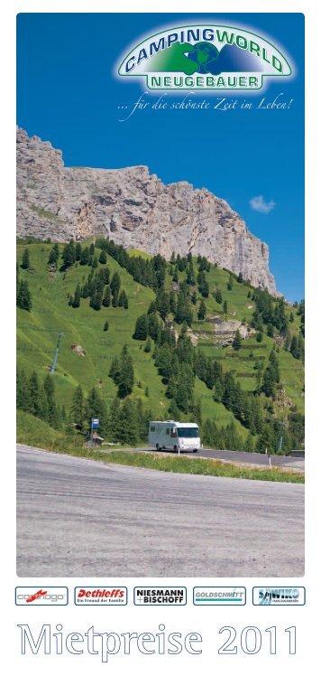 Mietpreise 2011 - Campingworld Neugebauer