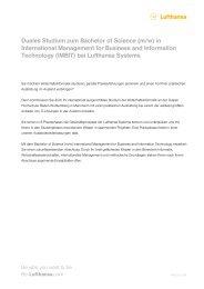 cl Duales Studium zum Bachelor of Science (m ... - Be-Lufthansa.com