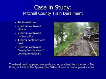 Train Derailment - U.S. National Response Team (NRT)