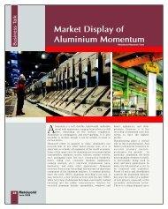 Market Display of Aluminium Momentum - Metalworld.co.in