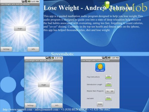 iphone app helps you lose weight