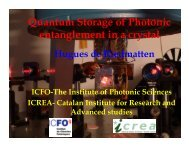 Quantum Storage of Photonic entanglement in a ... - DF-UFPE Pessoal