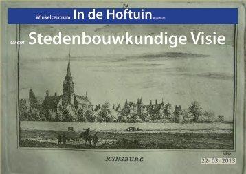 Ontwerp stedenbouwkundige visie In de Hoftuin ... - Gemeente Katwijk