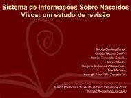 Sistema de Informações Sobre Nascidos Vivos: um estudo de ... - SBIS