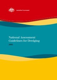 National Assessment Guidelines for Dredging - Department of the ...
