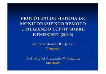 protótipo de sistema de monitoramento remoto utilizando tcp/ip ...