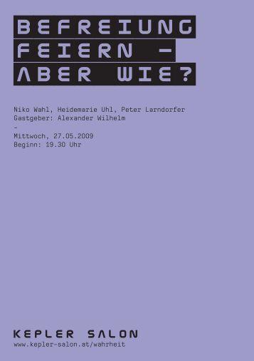 Heft_Wahl-Uhl-Larndorfer_20090527.pdf - Kepler Salon