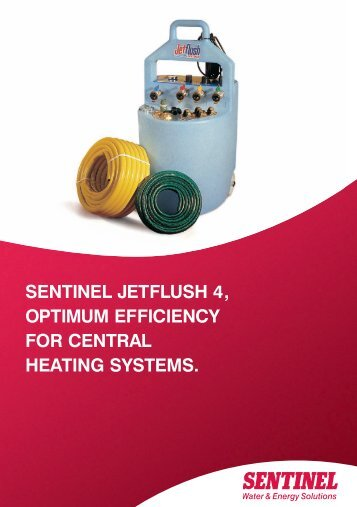 sentinel jetflush 4, optimum efficiency for central heating systems.