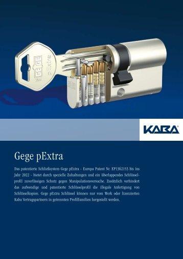 Kaba Schließzylinder - Gege pExtra
