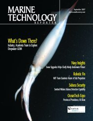 Marine Technology Reporter - July 2007 - SERPENT  project