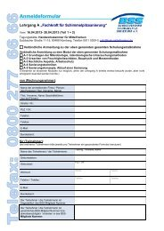 Anmeldeformular - Bundesverband Schimmelpilzsanierung eV
