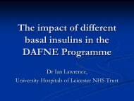 The impact of different basal insulins in the DAFNE Programme