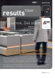 GF AgieCharmilles - Results Today Plus - galika