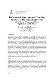 Is Communicative Language Teaching Practical in the ... - JLL Project