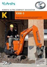 K K008-3 - Kubota