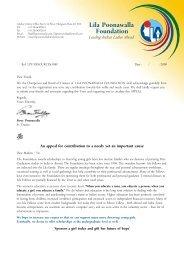 Lila Poonawalla Foundation - Global Hand
