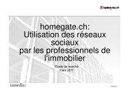Vers le rapport avec les résultats détaillés - Myhomegate.ch